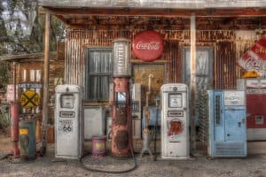 petrol station pumps