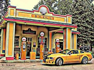 first shell petrol station