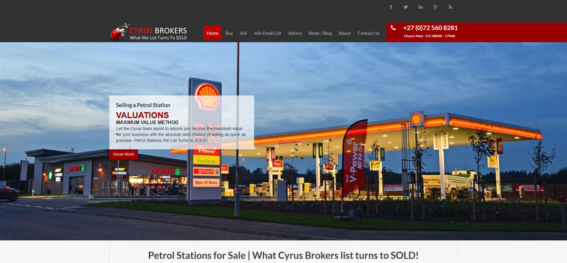 Cyrus Business Brokers South Africa | Petrol Stations For Sale